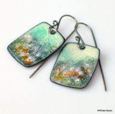 Misty Landscape Impression Petite Copper Enamel by WillOaksStudio, $47.00