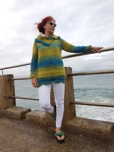 ARAN / WORSTER Seaside Scallops Sweater Top Sizes: S to XXL  at ETSY and www.tbeecosy.com Sweater Knitting Patterns, Easy Knitting, Knitting Needles, Jumpers For Women, Sweaters For Women, Men Sweater, Aran Jumper, Work Flats, Quick Knits