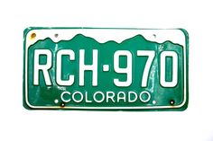 Colorado License Plate Number RCH 970