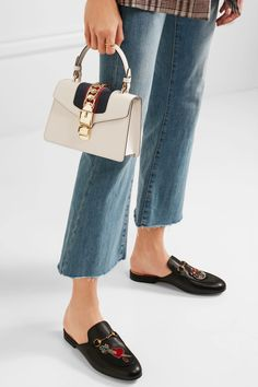 24 Hours In Paris: The 16th Arrondissement - $2250 Gucci 'Sylvie' Mini Chain-Embellished Leather Shoulder Bag