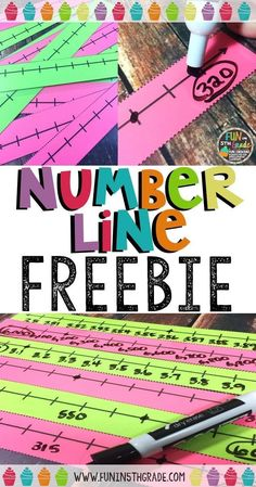 Use this FREE number line for hands on rounding practice. Check out this blog post for other freebies and tips for rounding.