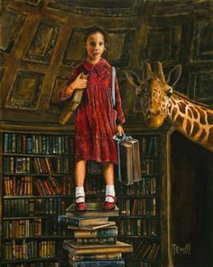 with the help of books, I stand on top of the world and travel to distant places
