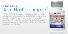 Advanced Joint Health Complex* contains a patent-pending, fast-acting form of Boswellia extract, a concentrated form of glucosamine and other key joint nutrients to help bring joint comfort and mobility.  http://thebestself.myshaklee.com/us/en/products.php?sku=20281.  Retail Price: $44.65.  Member Price: $37.95.