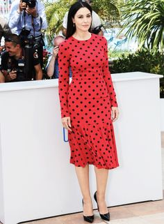 Monica Bellucci in Dolce&Gabbana at the photo call of Le Meraviglie at Cannes 2014 -