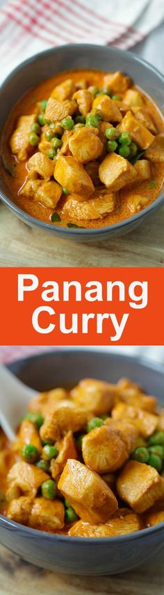 Panang Curry - Thai Panang curry with chicken and green peas. Easy 20-minutes homemade Panang curry recipe that is better than restaurants   rasamalaysia.com