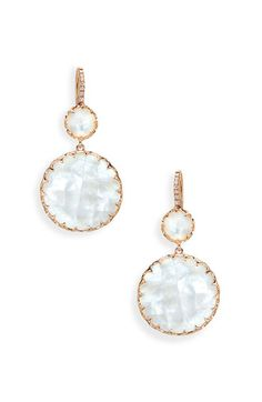 Ivanka Trump 'Rose Gold' Stone & Diamond Earrings available at #Nordstrom