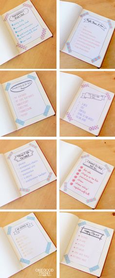 Making funny lists can help you getting started with journaling. Journal Prompts, Journal Notebook, Journal Cards, Bujo, Diy Agenda, Funny Lists, Keeping A Journal, Lists To Make, Journal Inspiration