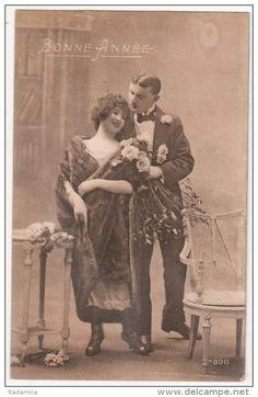 """Carte Postale Ancienne """"Je vous donne des fleurs"""" 1924 France."""