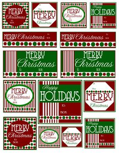 Printable Christmas Gift Tags - freebies - bjl