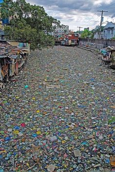 Citarum River (Indonesia), the most polluted river in the world.