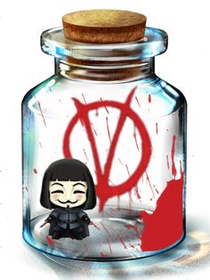 Tags: Anime, V For Vendetta, V Of Vendetta, Pixiv Bottle, Bottle