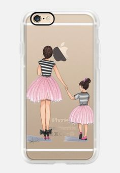 Casetify iPhone 7 Case and Other iPhone Covers - Mother Daughter ballerinas by the pretty pink studio | #Casetify