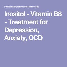 Inositol ocd treatment