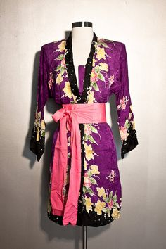 Jacket  Hand Painted 100 Silk by SalvatoCollection on Etsy, $87.35