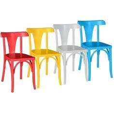 Kit Cadeiras Coloridas Felice - dactylo