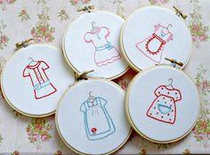 So cute for a little girl's nursery...Hoop Art Hand Embroidery Set  Baby Girl Room Decor by sewfaithful, $40.00