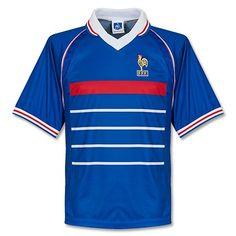 Camiseta Retro de Francia Mundial 1998 Local