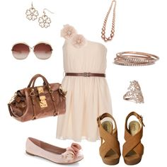 Love the dress and brown shoes