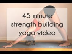 This is a full length instructional yoga video for strength. Not recommended for beginners, but anyone with a consistent yoga practice should be just fine. Yoga Bewegungen, Sup Yoga, Yoga Moves, Yoga Flow, Vinyasa Yoga, Yoga Videos, Workout Videos, Yoga Fitness, Pilates