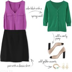 How to wear color at the office- Stitch Fix!