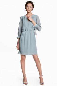 Kietaisumekko - Vaalea siniharmaa - Ladies   H&M FI 1