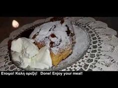 Πίτα αχλαδιού....στο τηγάνι! Φίνα, μυρωδάτη και ζουμερή! Pear Upsi... Food And Drink, Meals, Desserts, Food Ideas, Recipes, Youtube, Tailgate Desserts, Deserts, Meal