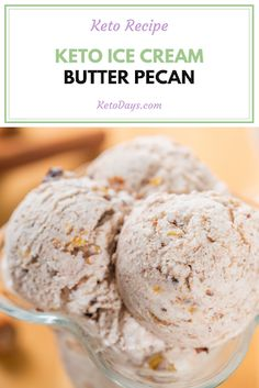 Butter Pecan is a popular favorite among ice cream lovers. Now, we've got a Keto ice cream recipe for this creamy flavorful treat. Low Carb Summer Recipes, Low Carb Recipes, Healthy Recipes, Keto Friendly Desserts, Low Carb Desserts, Keto Dessert Easy, Dessert Recipes, Keto Eis, Butter Pecan