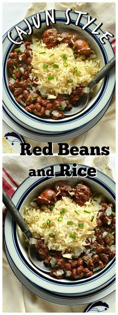 Red Beans and Rice is comfort food to those in the know. I like my red beans Cajun style, which means spicy nice! Served over rice and accompanied with Andouille sausage this meal is a healthy family favorite! www.thisishowicook.com #cajunfood #beans #mardigrasrecipes