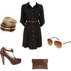 I'd wear this to the office. Switch heels for flats for a toned down look.
