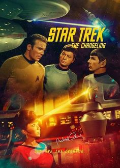 "Star Trek: The Original Series ""The Changeling"" (First Broadcast: September Star Trek Tv Series, Star Trek Original Series, Star Wars, Star Trek Tos, Science Fiction, Star Trek Posters, Movie Posters, Star Trek Wallpaper, Star Trek Episodes"