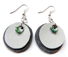 (un)intentional contemporary art in Transylvania: Round leather earrings Leather Earrings, Contemporary Art, Pendants, Drop Earrings, Accessories, Jewelry, Design, Fashion, Moda