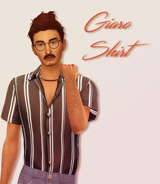 nuagelle: Giaro Shirt Wow cam you made male cc. Sims 4 Mm Cc, Sims Four, The Sims 4 Packs, Play Sims, Sims 4 Cas, Sims 4 Update, Sims 4 Cc Finds, Sims 4 Clothing, The Sims4