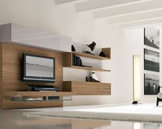Entertainment Unit Floating Shelves Design, Pictures, Remodel, Decor and Ideas - page 3