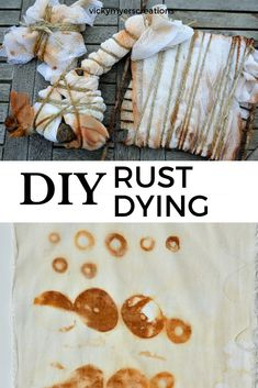 Rust fabric - With rustvicky myers creations you can create beautiful patterns on fabricDid you know that you can dye fabric with rust? Learn how to draw the rust patterns on the fabricdying rust fabricHow Fabric Painting, Fabric Art, How To Dye Fabric, Dyeing Fabric, Natural Dye Fabric, Natural Dyeing, Fabric Dyeing Techniques, Tie Dye Crafts, Fabric Journals