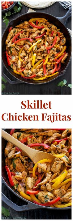 Skillet Chicken Fajitas | Quick, easy, gluten free, & paleo skillet chicken fajitas are perfect for busy nights! #zayconfresh: