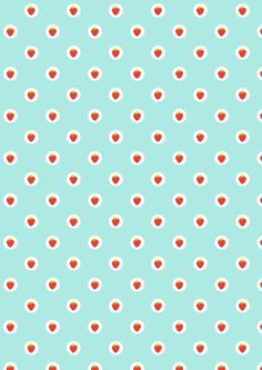 FREE printable strawberry pattern paper