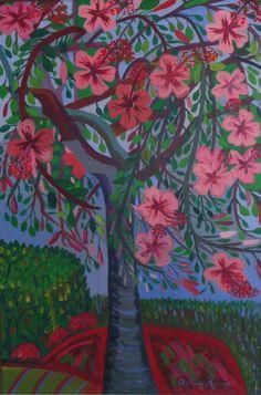 """ADRIENNE KYROS, """"Primavera"""", Acrylic on Canvas, 40 x 28"""