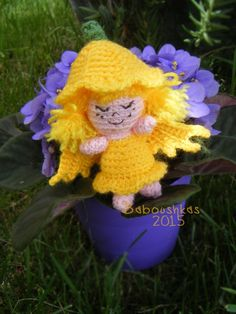 [Free Pattern] Petunia Is A Wee Little Fairy Only 10cm Tall
