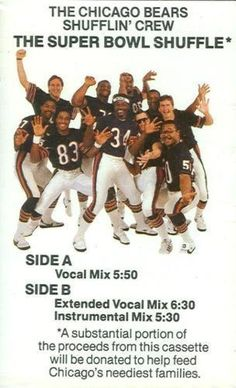 DID the 1985 Bears come looking for trouble??