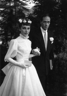 Audrey on her wedding day.