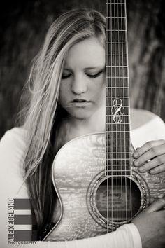 Senior Girl Portrait Pose Guitar