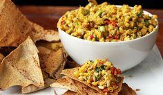 Proteinový cizrnový salát s domácí majonézou
