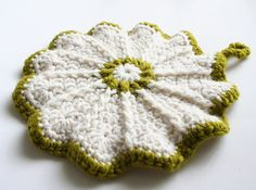 Love this hot pad.  They're a quick crochet & so cute!