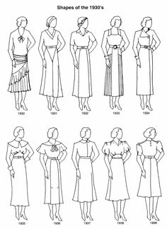 Clothing Shapes 1930's