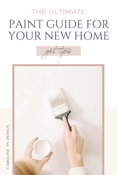 Feeling overwhelmed when you think about choosing paint colors for your new home? Unsure where to even start? I've got you covered in this ultimate paint guide for your new home! Best Interior Paint, Interior Decorating Tips, Interior Design Tips, Exterior Paint Colors, Paint Colors For Home, House Colors, Feeling Overwhelmed, Home Goods, New Homes