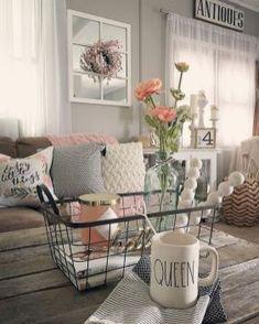 Rustic farmhouse living room decor ideas (22)