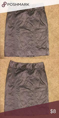 Purple metallic pencil skirt Metallic purple pencil skirt. Zips in the back. Never worn. Forever 21 Skirts Pencil