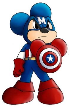 Mickey mouse capitan america