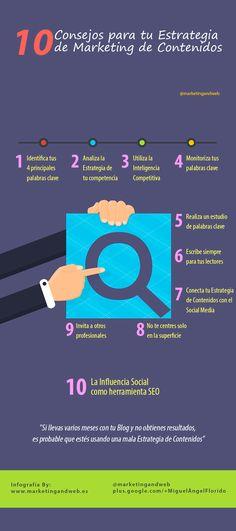 10 Consejos para tu estrategia de marketing de contenidos #infografia #infographic #marketing