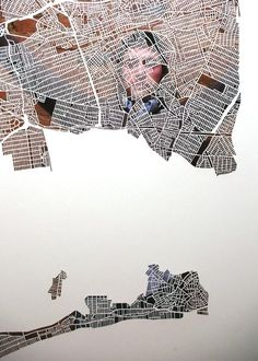 Another Cut-out Map by Charlotte, NC-based artist Karen O'Leary